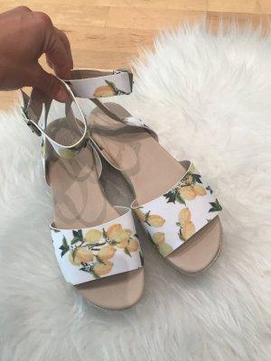 Asos Espadrille sandalen wit-geel Gemengd weefsel