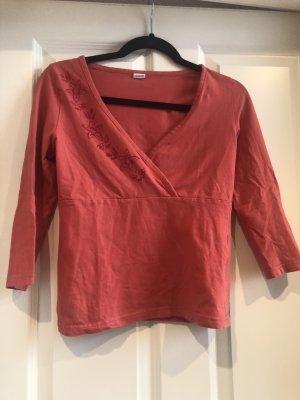 3suisses Sweter z dekoltem w kształcie litery V jasnoczerwony