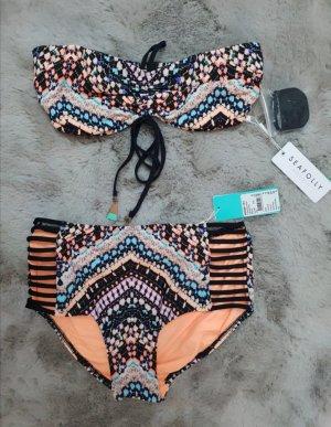 Seafolly Bikini naranja oscuro-turquesa