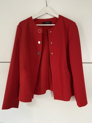 Violeta by Mango Tweed Blazer red