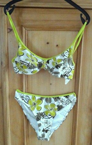 F2 Bikini blanco-gris verdoso