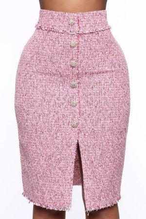 Fashion Nova Jupe en tweed multicolore polyester