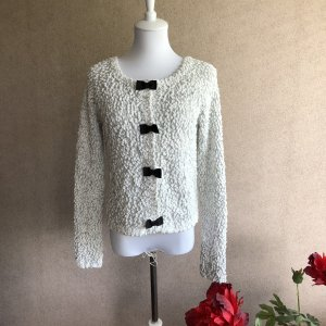Cardigan all'uncinetto bianco-nero
