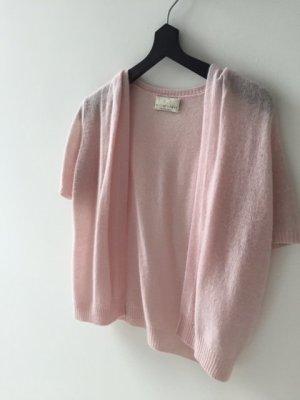 FTC Cashmere Short Sleeve Knitted Jacket pink-dusky pink cashmere