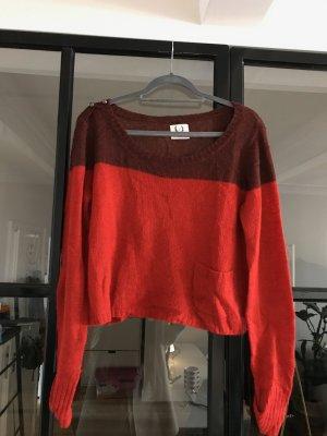 Avant Première Sweter z dzianiny ciemnoczerwony-czerwona jeżyna