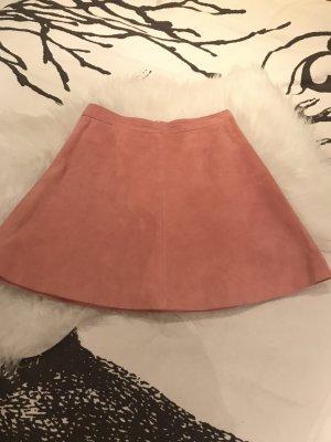 Vila Jupe en cuir rose-rose clair cuir