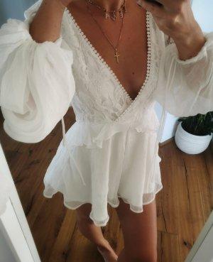 Beachwear white polyester