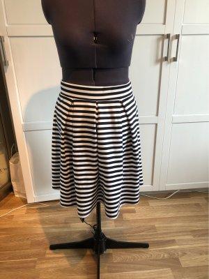 Anna Field Plisowana spódnica biały-ciemnoniebieski