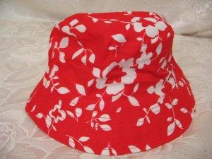 Bucket Hat red-white