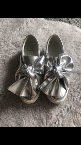 Divine Follie Patent Leather Ballerinas silver-colored