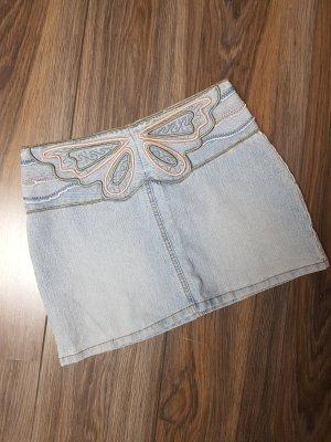 Süßer Jeans Minirock Schmetterling