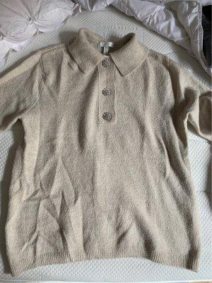 H&M Jersey de manga corta beige