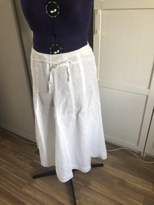 Giorgio di Mare Vintage Falda de lino blanco