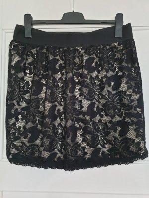 WE Fashion Kanten rok zwart