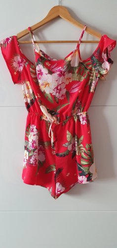 Süßer Overall mit Hibiskusblüten Gr.XS