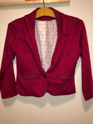 Vero Moda Blazer in jersey rosso lampone-bianco