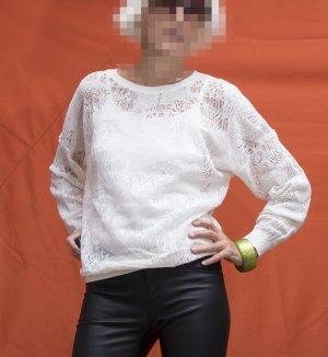 Vanessa Bruno Maglione girocollo bianco sporco Cotone