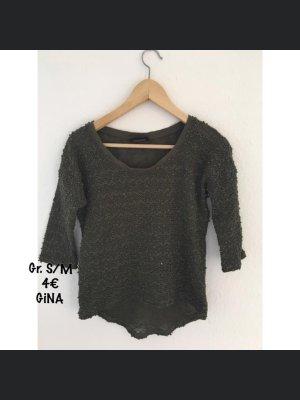 Süßer Pullover in grün Gr.S/M