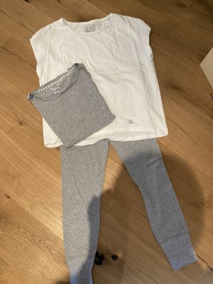 Short Stories Pijama gris claro-blanco