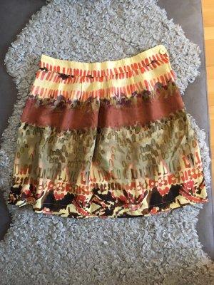 Tandem Silk Skirt russet-gold orange silk