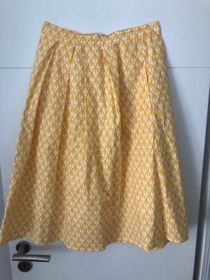 Mademoiselle YéYé Balloon Skirt yellow-white cotton