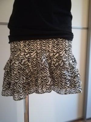 Tom Tailor Miniskirt white-black