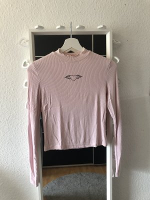 Bershka Jersey largo rosa claro-rosa