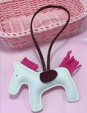 Süßer Schlüssel-/Taschenanhänger Pferd, 4 Farben, Kunstleder NEU