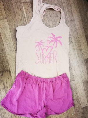 no name Pijama albaricoque-rosa