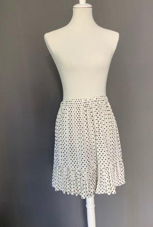 Zara Rok met hoge taille wit-zwart Polyester