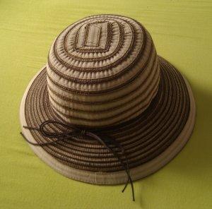 Sombrero de ala ancha multicolor tejido mezclado