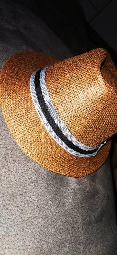 Sombrero de paja beige claro-beige