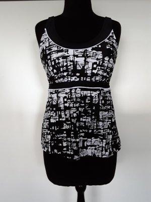 bpc selection Tankini black-white polyamide