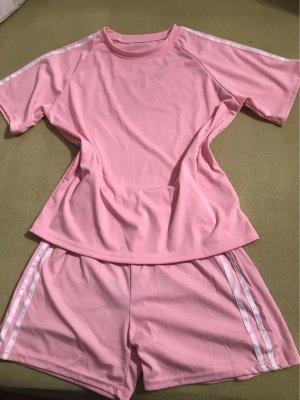 0039 Italy Short de sport rose clair-rose polyamide