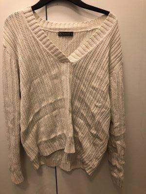 Süßer V-Ausschnitt-Pullover