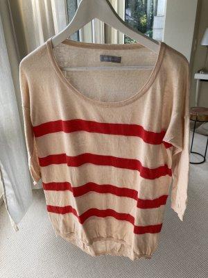 Samsøe & samsøe Maglione oversize rosso-beige chiaro