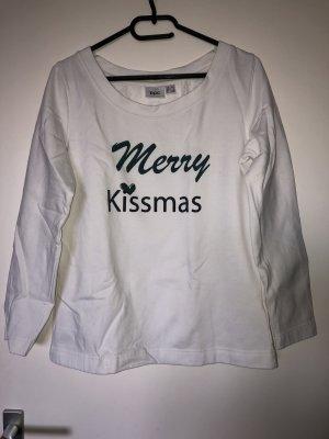 bpc selection Sudadera navideña blanco puro-verde bosque
