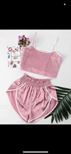 Zaful Jersey twin set roze