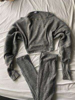 Fashionova Knitted Twin Set grey