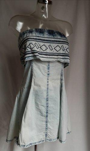 Parisian Bandeau Dress pale blue-azure