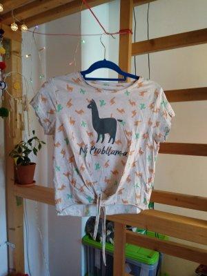 Süßes bauchfreies Lama Shirt
