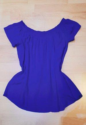 Pieces Koszula typu carmen niebieski neonowy