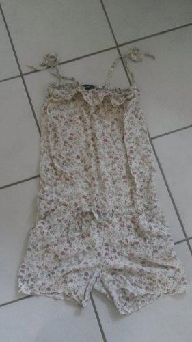 süßes BLOGGER Jumpsuit Overall geplümt Blümchen Blumen floral - UNGETRAGEN Gr M