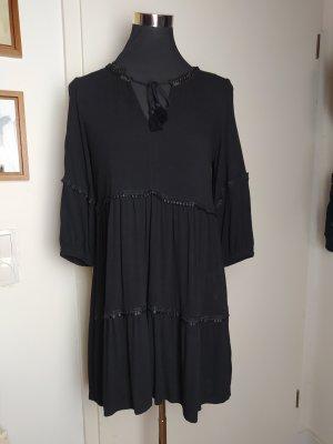 Süßes Boho-Kleid, schwarz, H&M Divided, 36/S