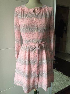 Sukienka boho jasny różowy