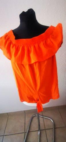 Süßes Carmen Top orange schulterfrei  Esprit Gr L  Neu mit Etikett
