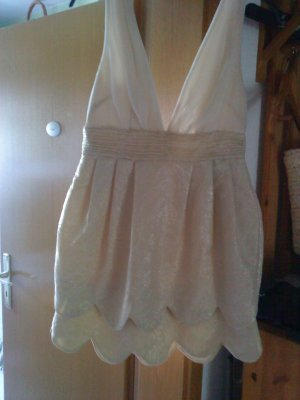 süßes edles Kleidchen gold nude 38