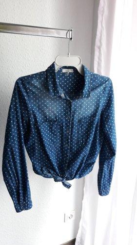 Camisa vaquera azul-azul neón Algodón