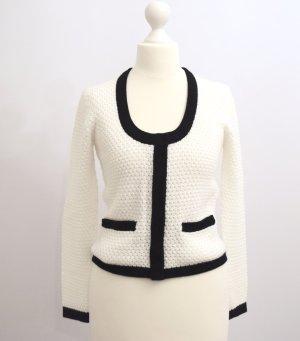 Tally Weijl Crochet Cardigan white-black polyacrylic