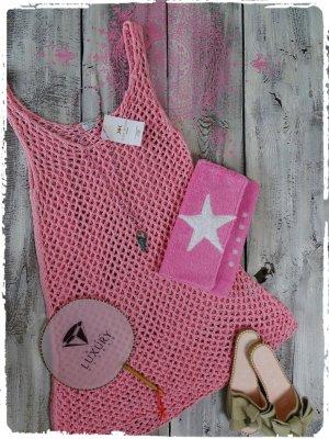 süsses häkel Kleid aus Ibiza rosa
